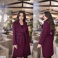 Кашемировое женское пальто на осень размеры норма и батал арт 1042/1