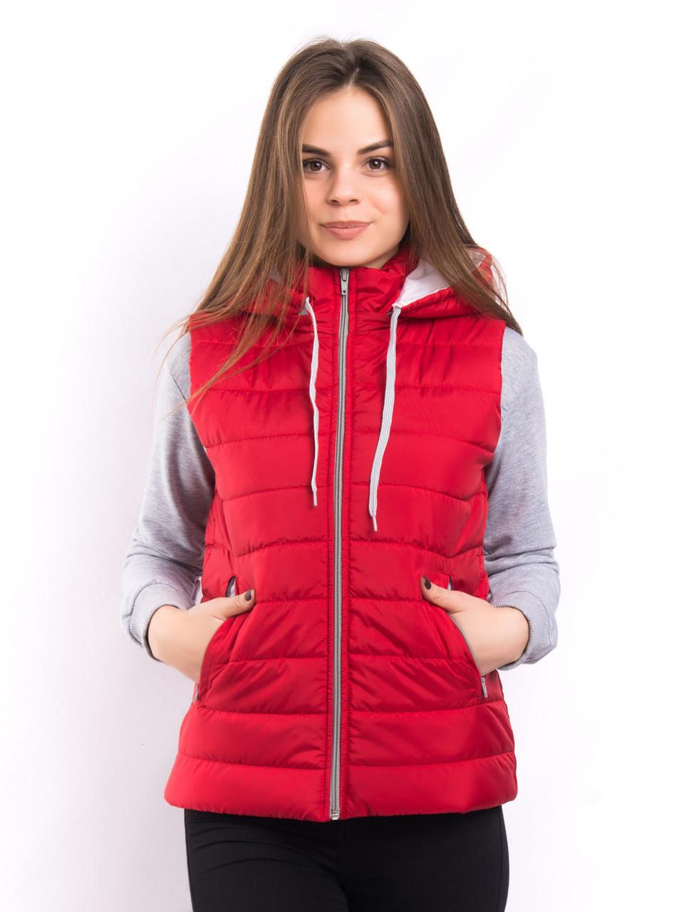 Женская жилетка красная производство Украина от производителя по низким ценам D123