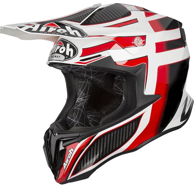 Мотошлем кроссовый Airoh Twist Shading красный/белый/черный, L