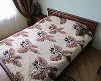 Одеяло двухслойное, полуторное из овечьей шерсти 2х1,5 м ПП2