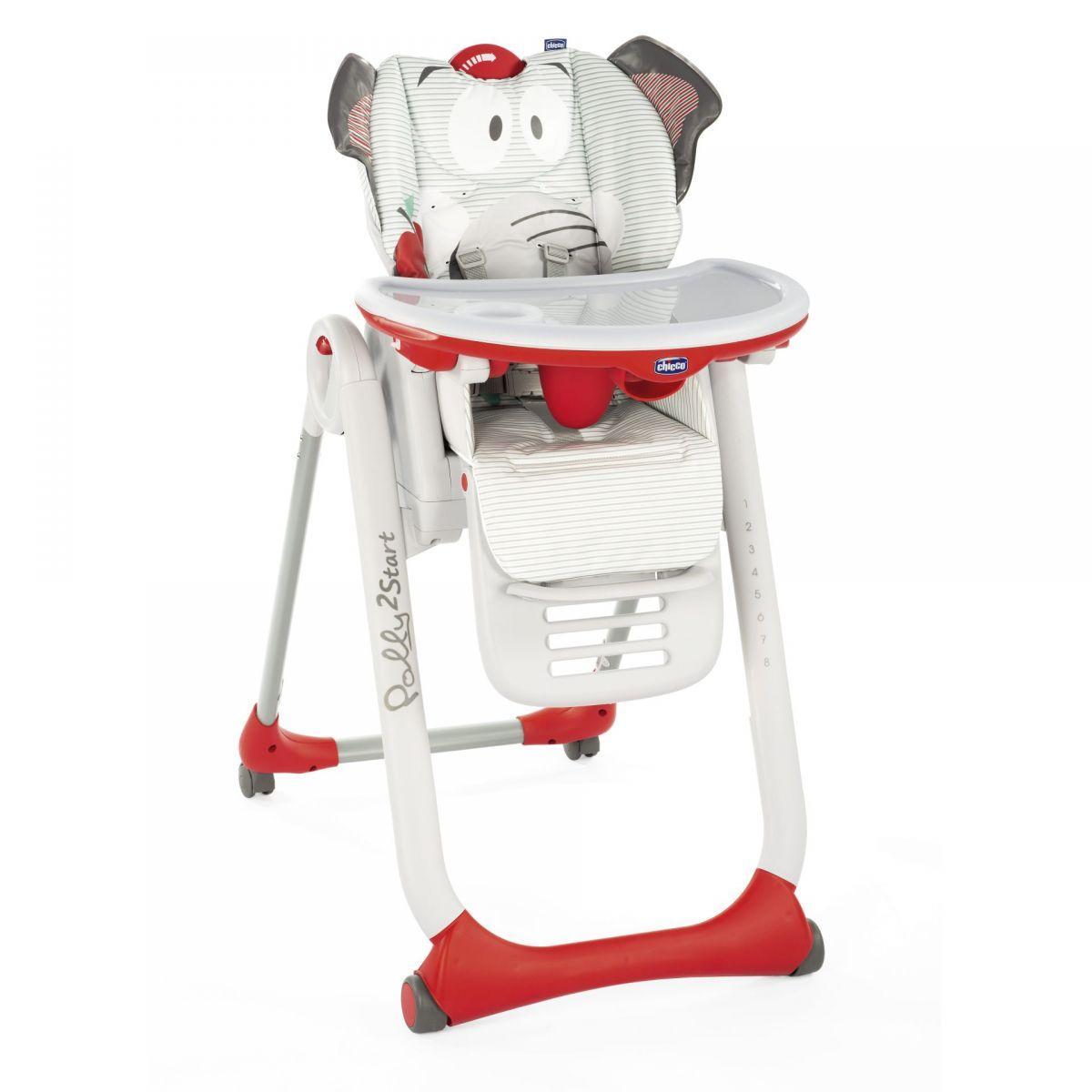 Стільчик для годування Chicco Polly 2 Start Baby Elephant