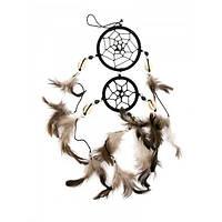 Ловец снов коричневый (d-6 см d-5см h-32 см)