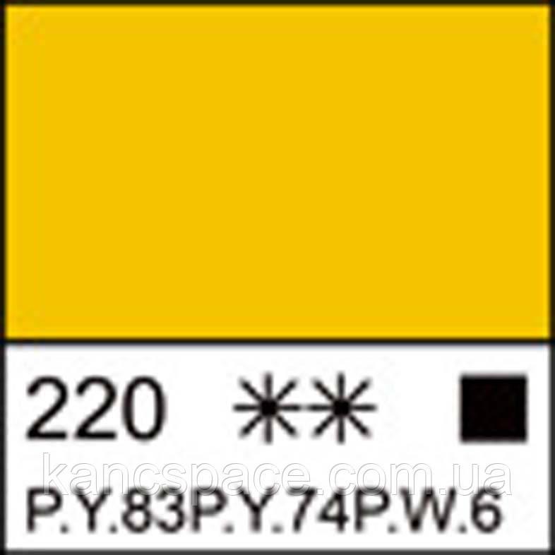 Фарба акрилова ЛАДОГА, жовта середня, 220мл ЗХК