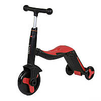 Беговел трансформер 3 в 1 свет и музыка BestScooter самокат беговел трехколесный велосипед от 3 лет красный
