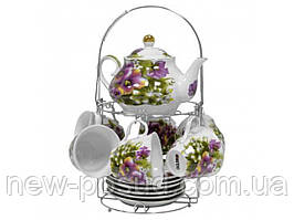 Чайный сервиз на 6 персон из 15 предметов Оселя 21-245-018