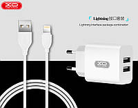 Адаптер мережевий XO Lightning cable L17 |2USB, 2.4 A|