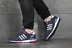 Мужские кроссовки Adidas ZX 750 (сине-белые), фото 2