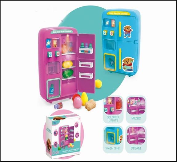 Холодильник 2 вида, пар, свет, звук, продукты, в кор. 28,5*27,5*13 см /18-2/