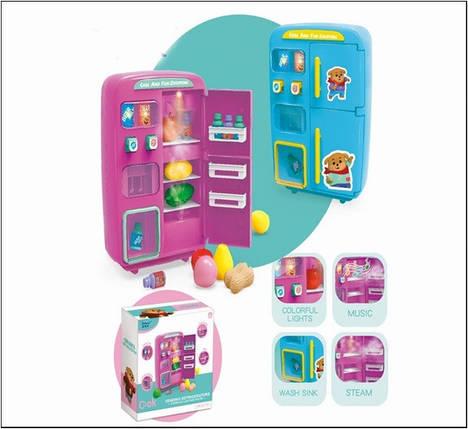 Холодильник 2 вида, пар, свет, звук, продукты, в кор. 28,5*27,5*13 см /18-2/, фото 2