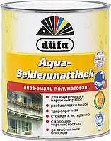 Акваэмаль шелковисто-матовая (белая) Dufa Aqua-Seidenmattlack 2,5л