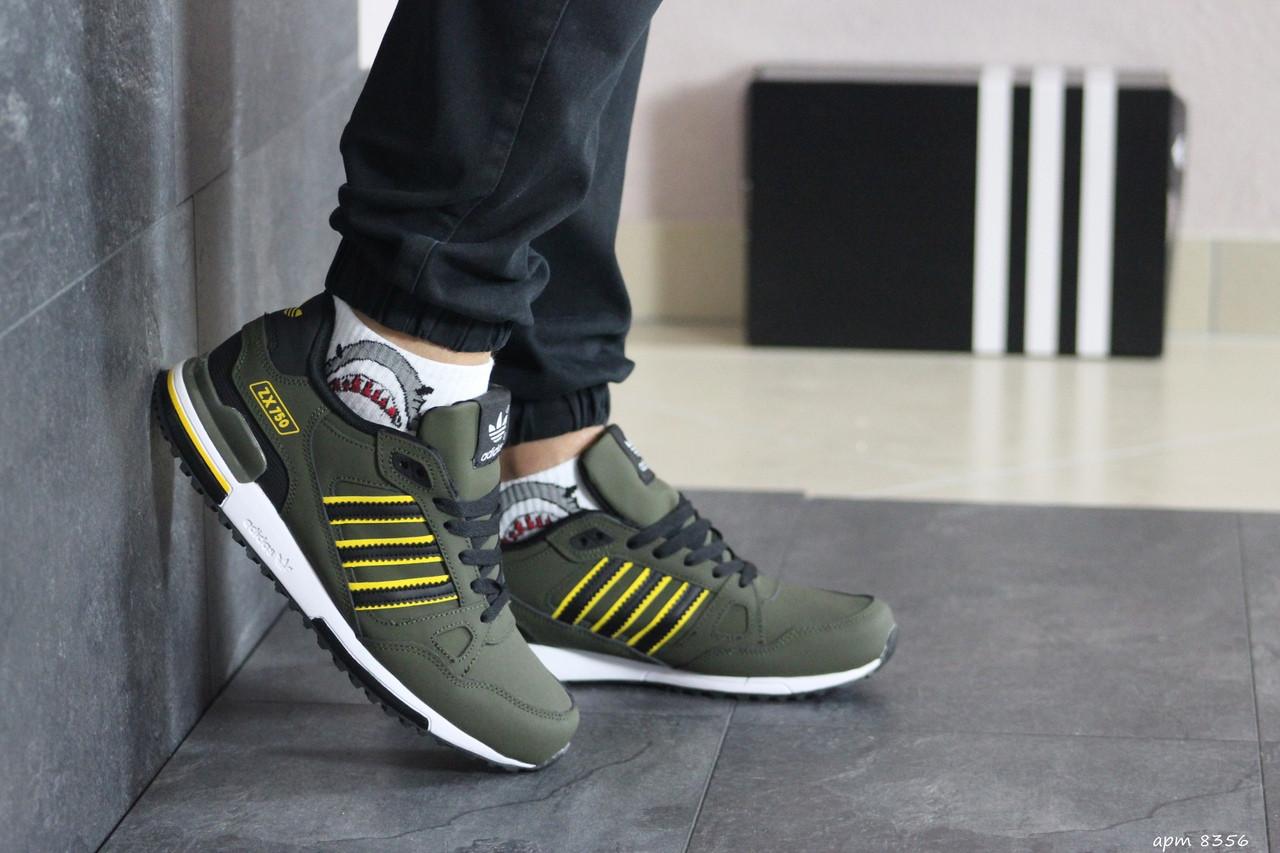 Мужские кроссовки Adidas ZX 750 (темно-зеленый)