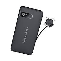 УМБ JOYROOM Secret Series with LCD D-M202 10000mAh |1USB/Micro USB+lightning+Type-C cable, 2A|