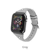 Кожаный ремешок для Apple Watch Series 1-4 HOCO Ocean series  WB05 |38-40mm|