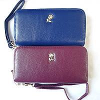Женский кошелек на 2 молнии с ремешком на руку, фото 1