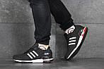 Мужские кроссовки Adidas ZX 750 (черно-белые), фото 2