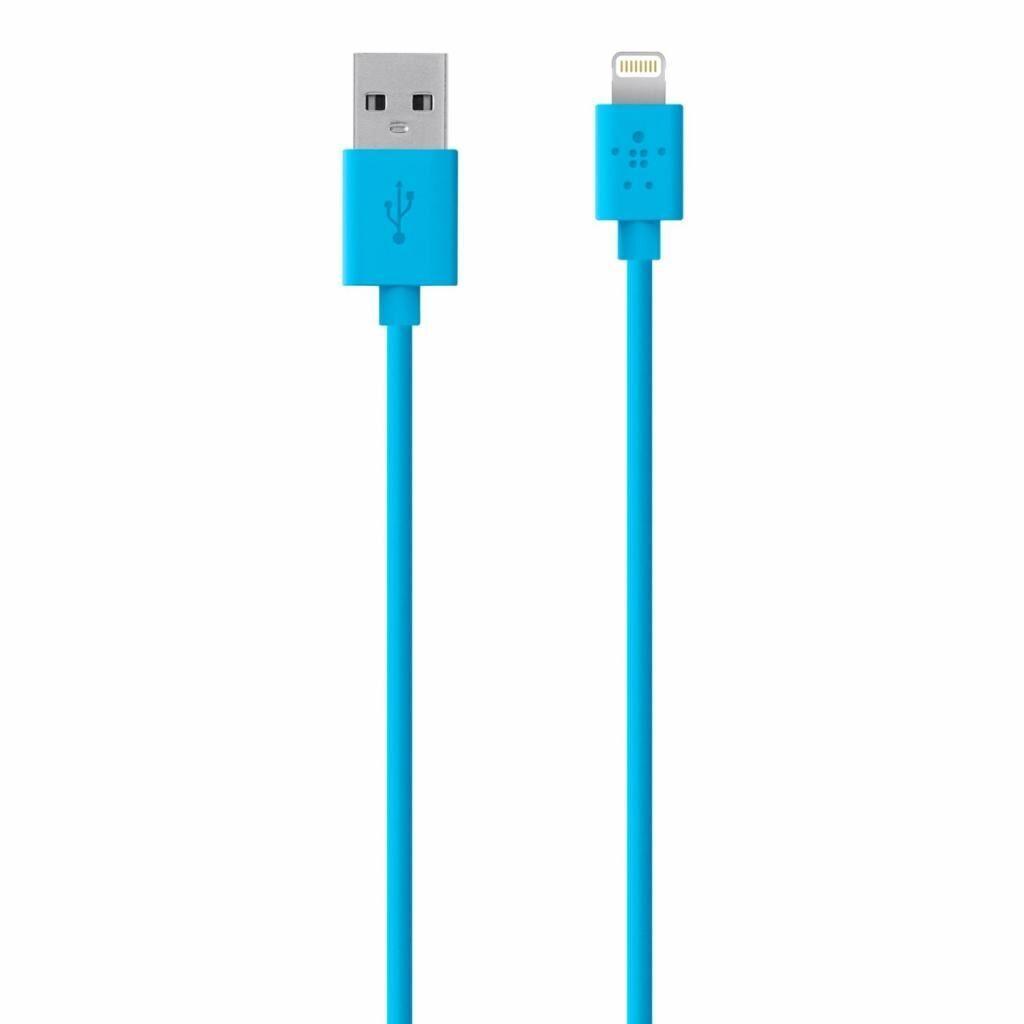Дата кабель USB 2.0 to Lightning 1.2m Belkin (F8J023bt04-BLU)