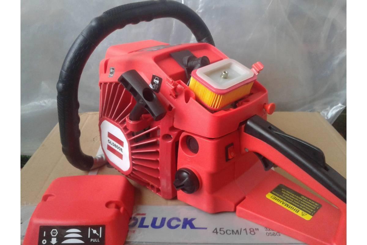 Бензопила GoodLuck GL 5800Е  (1 шина, 1 цепь), метал. корпус, праймер, плавный пуск