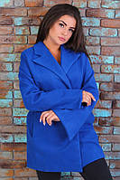 Женское короткое пальто с пояском