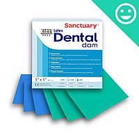 Платки для коффердама, СИНИЕ,ТОНКИЕ (PLAIN, THIN) Dental Dam (Sanctuary)