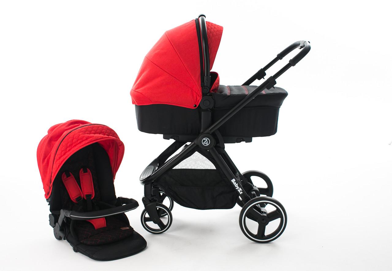 Коляска 2 в 1 Babyzz B102 Красная