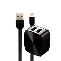 Адаптер мережевий REMAX Lightning cable RP-U215 |2USB, 2.4 A|