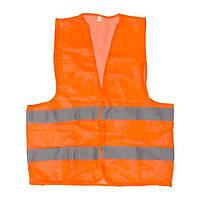 Жилет сигнальний помаранчевий XXL (62*70см), 100 гр/м2 INTERTOOL SP-2026