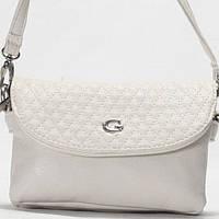 Женская сумка - клатч Gilda Tohetti  светло - серого цвета