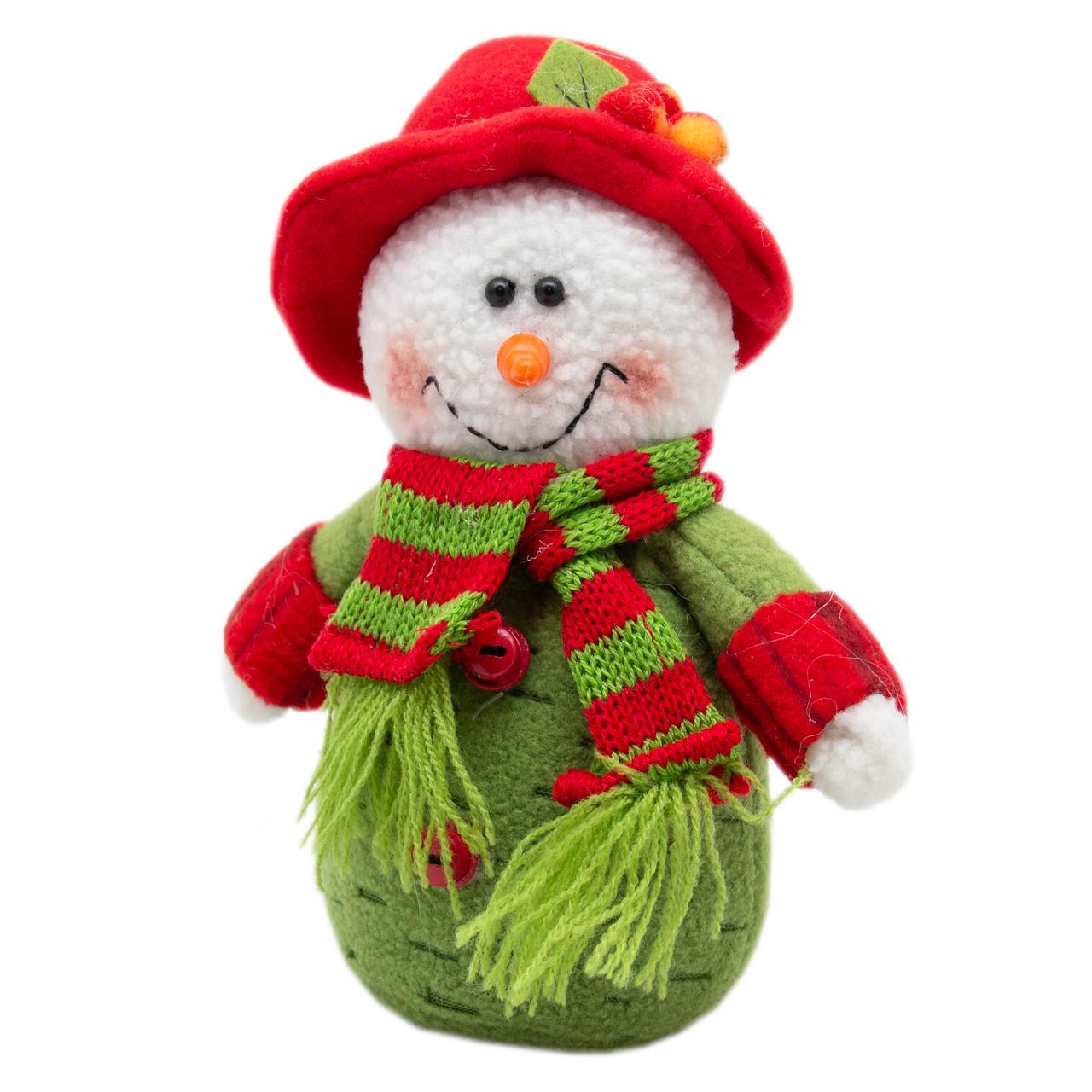 Мягкая новогодняя фигурка Снеговик мягкий 15 см, (000081-1)