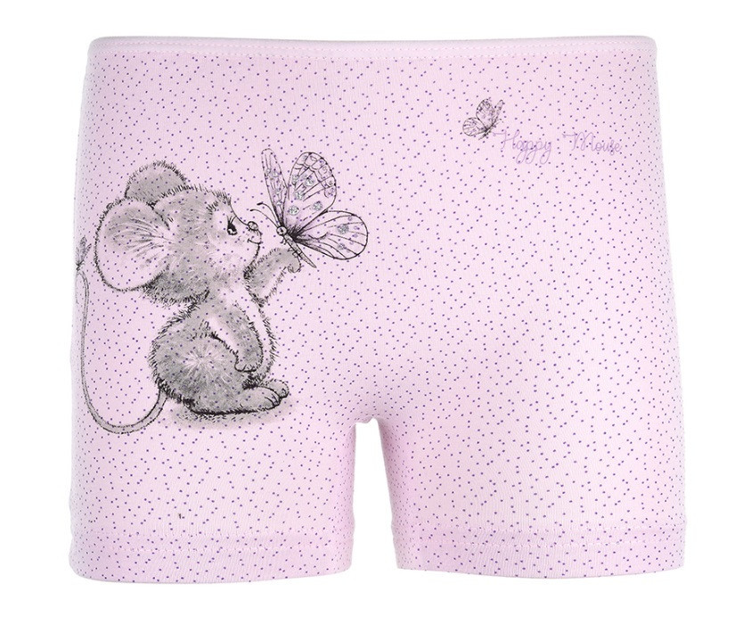 """Трусики-шортики детские для девочки """"Счастливая мышка"""", 2-3 года (рост 98-104)"""