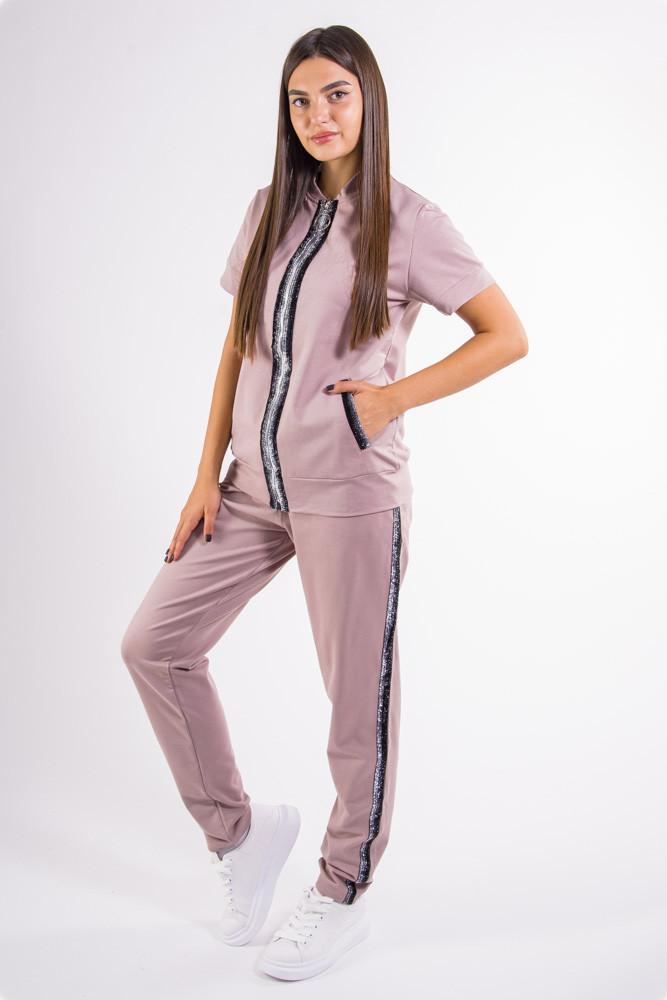 Сиреневый женский спортивный костюм