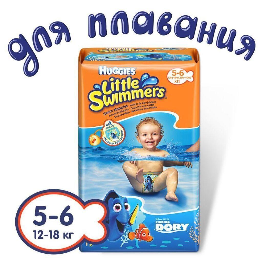 Подгузник Huggies Little Swimmer 5-6 (12-18 кг) 11 шт (5029053538426)