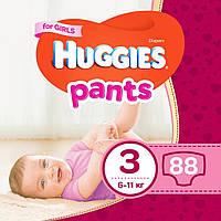 Подгузник Huggies Pants 3 для девочек (6-11 кг) 88 шт (5029053564074)