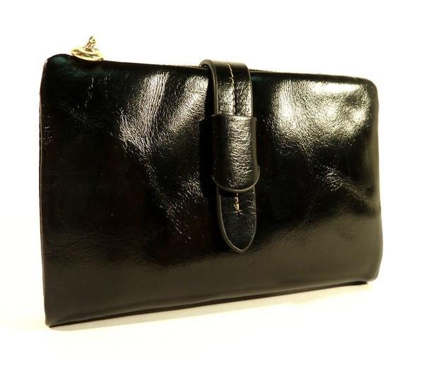 Кошелек кожаный женский черный JCCS 1029