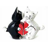 Кошки пара с сердечком дерево (11,5х8х3 см)