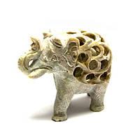 Слон из мыльного камня резной (7,5х9,5х4,5 см)