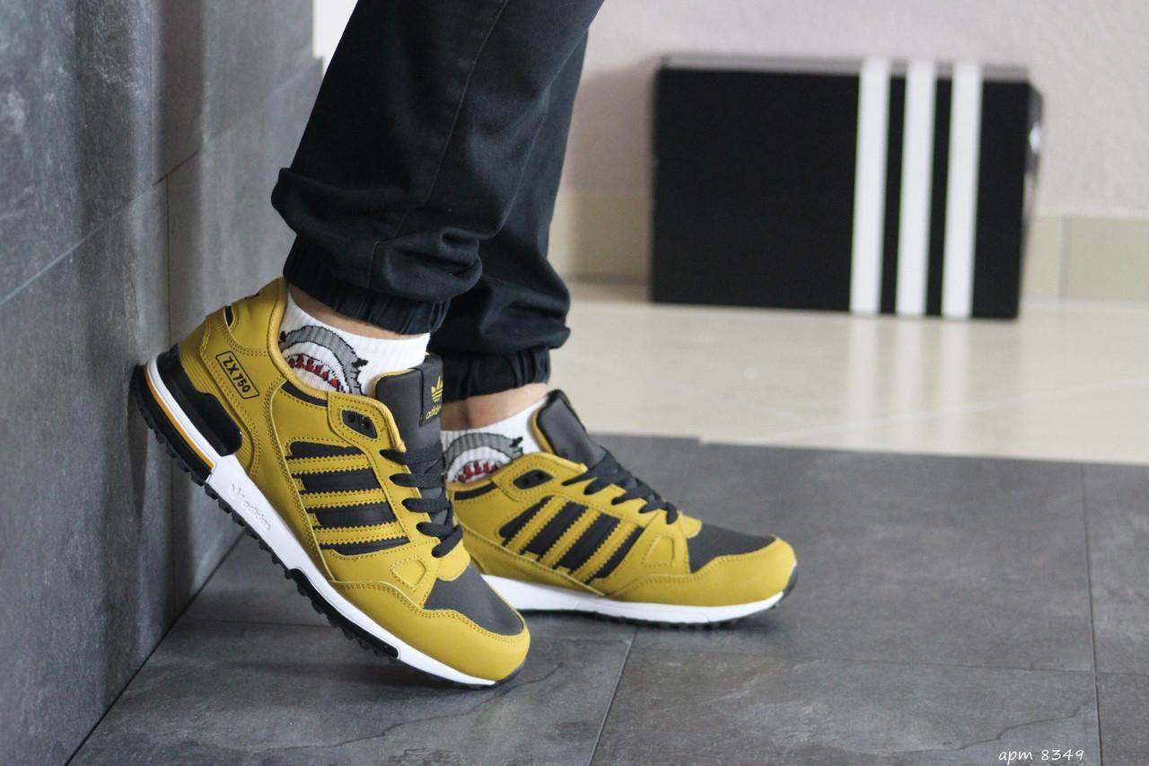 Мужские кроссовки Adidas ZX 750 (горчичный)