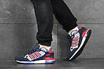 Чоловічі кросівки Adidas ZX 750 (синьо-червоні), фото 3