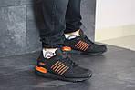 Мужские кроссовки Adidas ZX 750 (черно-оранжевые), фото 2