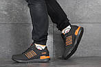 Мужские кроссовки Adidas ZX 750 (черно-оранжевые), фото 3