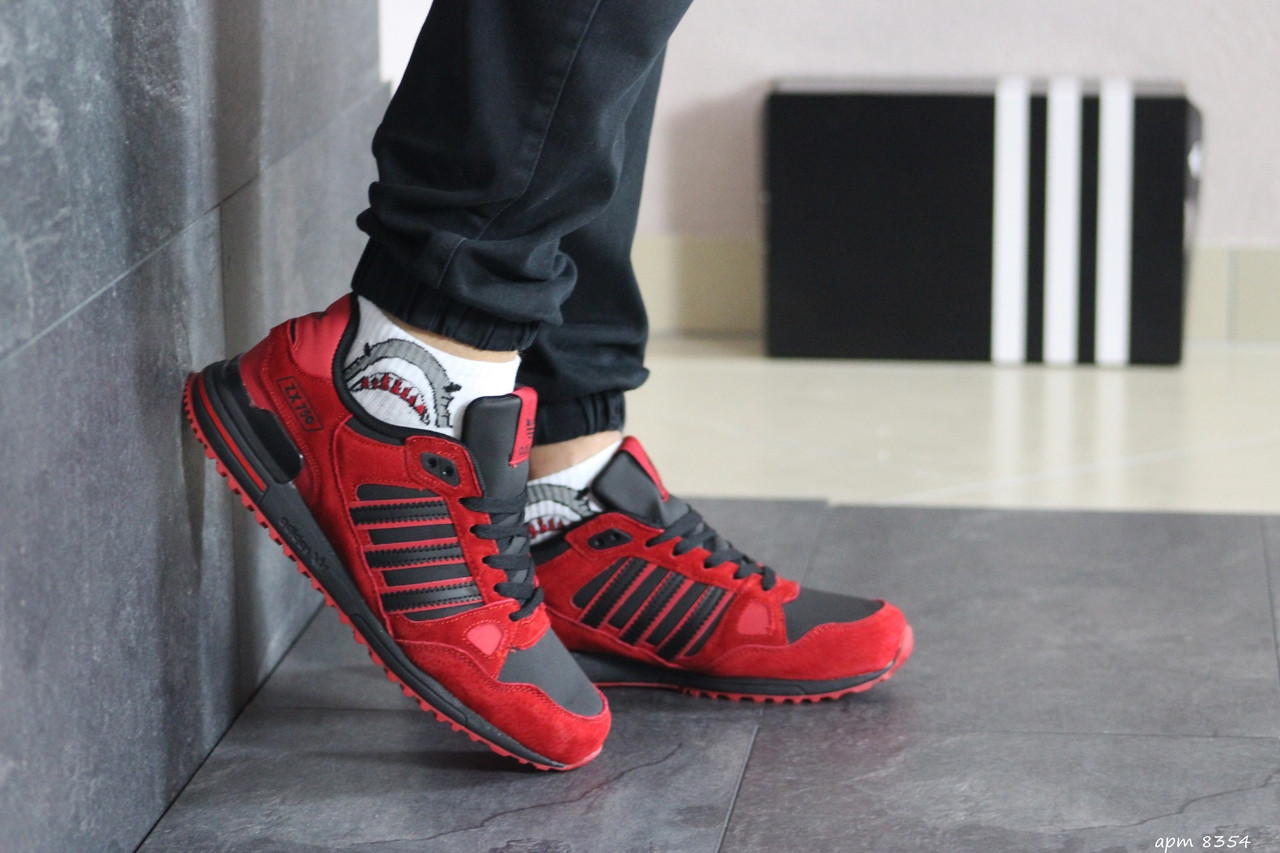 Чоловічі кросівки Adidas ZX 750 (червоні)