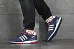 Чоловічі кросівки Adidas ZX 750 (синьо-білі), фото 2