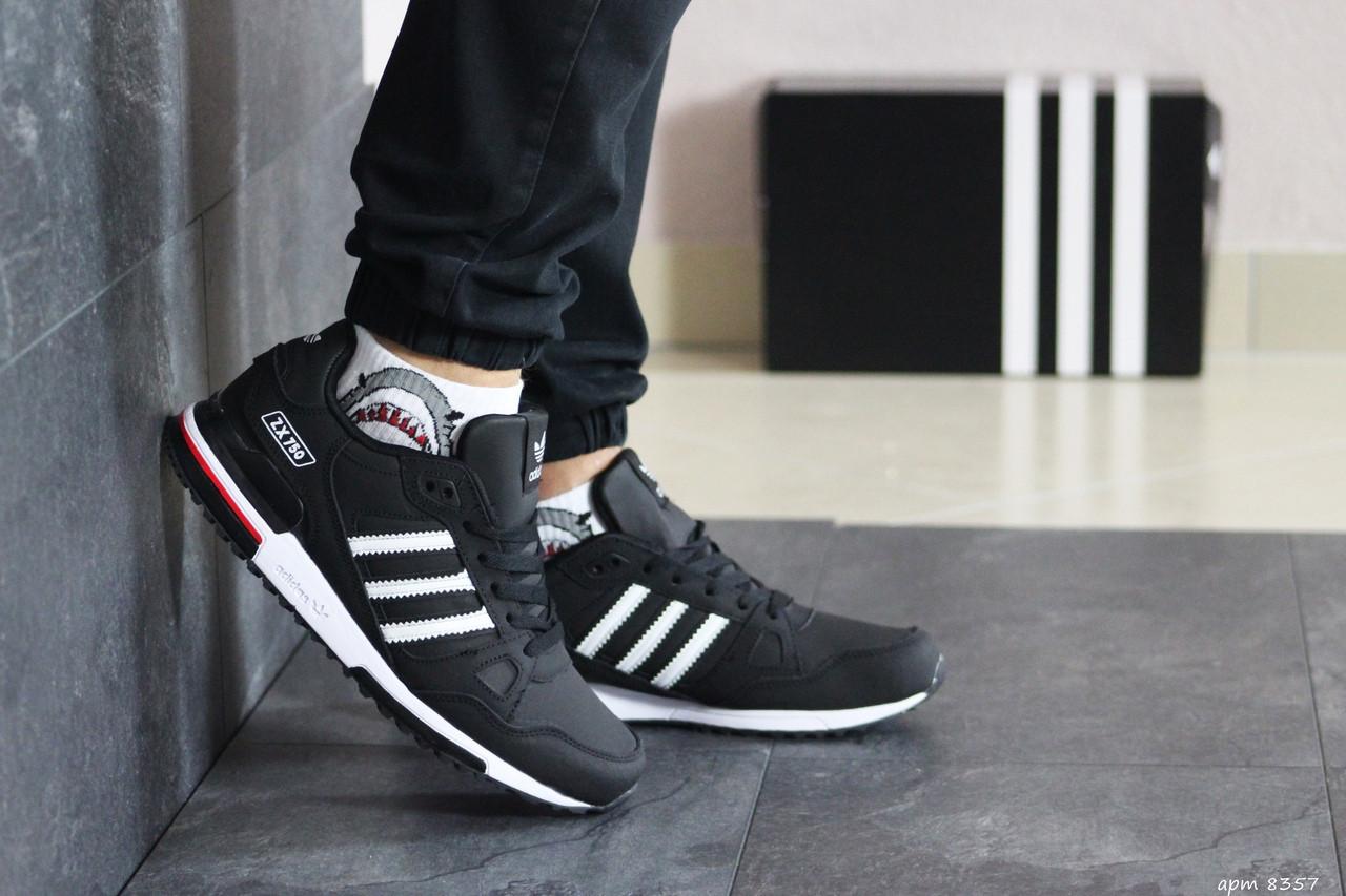 Мужские кроссовки Adidas ZX 750 (черно-белые)