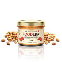 Арахисовая паста FOODERA без добавок (кранч) хрустящая с кусочками арахиса