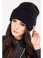 Молодежная шапка из ангоры Муза ODYSSEY черный 43129