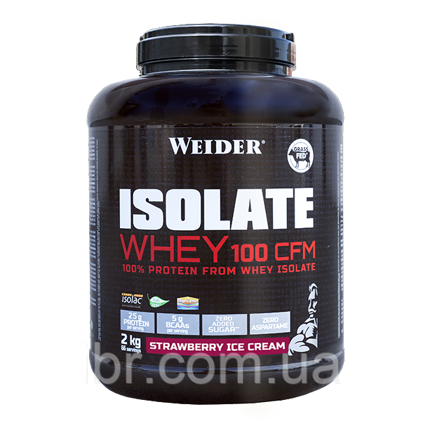 Протеин WEIDER ISOLATE WHEY 100 CFM Strawberry Ice Cream 2 kg