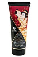 Съедобный крем для эротического массажа Клубничное вино Shunga Massage Cream Sparkling Strawberry Wine 200 ml Шунга