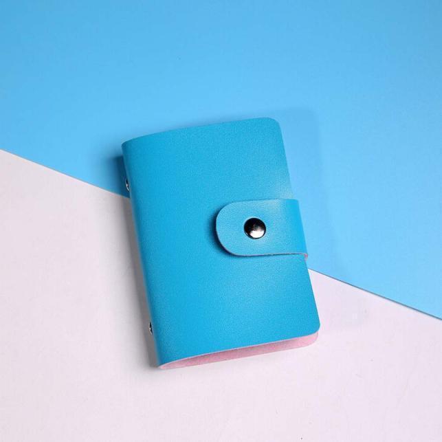 Кошелек для хранения карт голубой