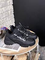 Женские кроссовки Dior (Full Black), женские черные кроссовки Диор, женские кроссовки Диор