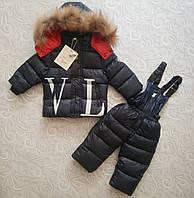Детский зимний комбинезон, комплект Moncler Valentino, фото 1