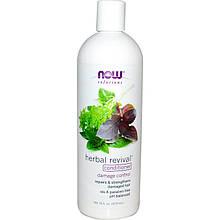 """Кондиционер для поврежденных волос NOW Foods, Solutions """"Herbal Revival Conditioner"""" травянной (473 мл)"""